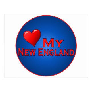 Liebe meine Neu-England Fanclub-Einzelteile Postkarte