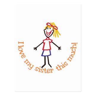 Liebe meine Schwester Postkarte