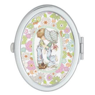 """Liebe-"""" Minze Sarahs Kay """"mit ovaler kompakter Taschenspiegel"""