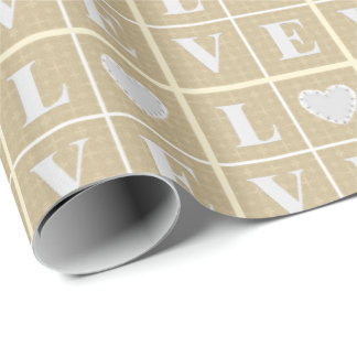 LOVE with a HEART Wrapping Paper