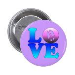 Liebe mit Friedenszeichen Buttons
