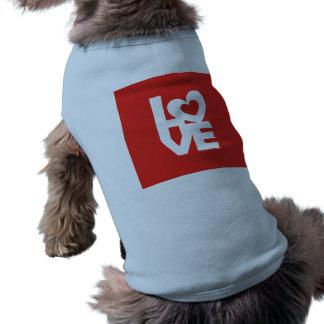 Liebe mit Herzen Ärmelfreies Hunde-Shirt