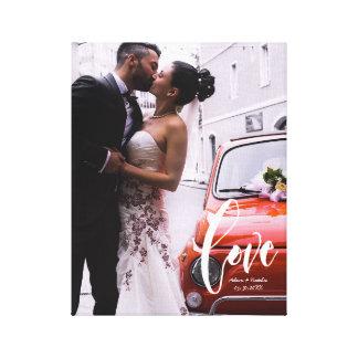 Liebe, modernes Skript • Kundenspezifisches Foto, Leinwanddruck