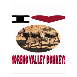 Liebe-Moreno- Valleyesel Postkarte