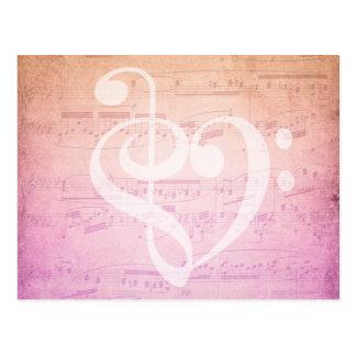 Liebe-Musik-Postkarte Postkarte
