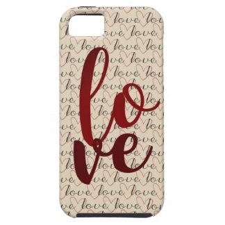 Liebe-Muster-Wort-Herzen Tough iPhone 5 Hülle
