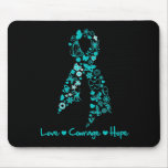 Liebe-Mut-Hoffnungs-Schmetterling - Eierstockkrebs Mousepads