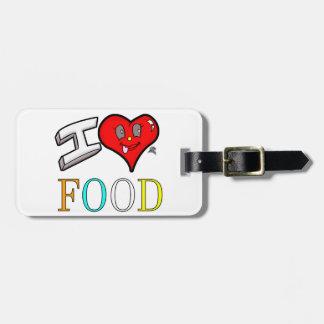 Liebe-Nahrungsmittelentwurf der Feinschmecker-I Gepäckanhänger