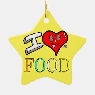 Liebe-Nahrungsmittelentwurf der Feinschmecker-I Keramik Ornament
