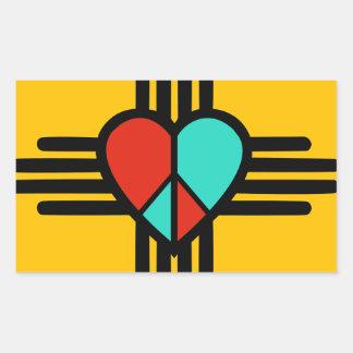 Liebe, New-Mexiko, Frieden Rechteckiger Aufkleber