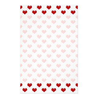 Liebe-niedliches rotes Herz-Muster des Valentines Druckpapier