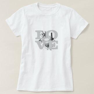LIEBE Ölfeld (Farbbeschriftung) T-Shirt
