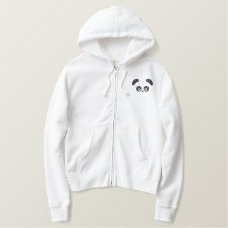Liebe Panda® Damen-ZipHoodie Bestickter Hoodie