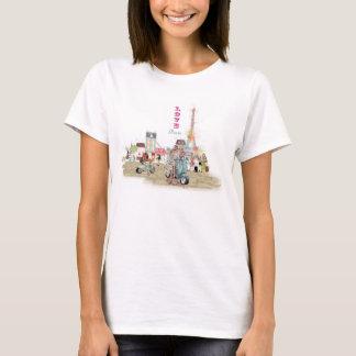 Liebe-Paris-Collagenskizze T-Shirt