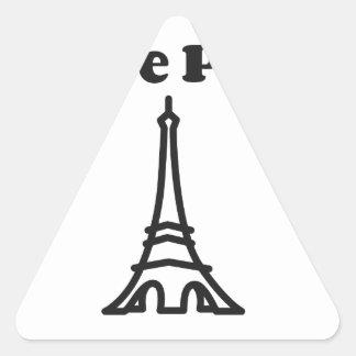 Liebe Paris Dreieckiger Aufkleber