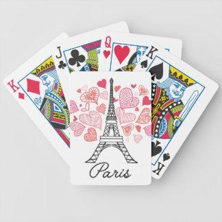 Liebe Paris, Frankreich Bicycle Spielkarten