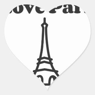 Liebe Paris Herz-Aufkleber