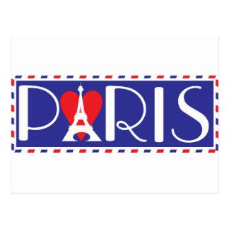 Liebe Paris Postkarte
