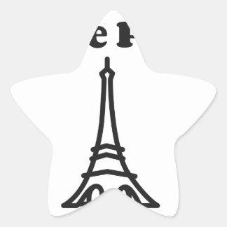 Liebe Paris Stern-Aufkleber