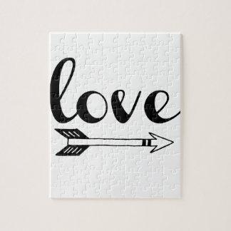 Liebe-Pfeil-Entwurf Puzzle