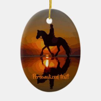 Liebe-Pferde, Pferderuecken-Reiten, Keramik Ornament