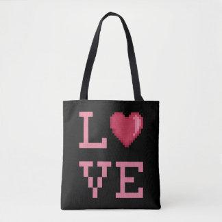 Liebe-Pixel-Tasche Tasche