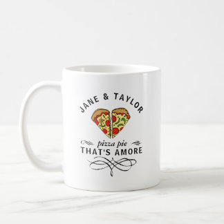 Liebe-Pizza personalisiert Kaffeetasse