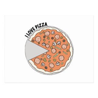 Liebe-Pizza Postkarte