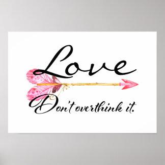 Liebe-Plakat Poster