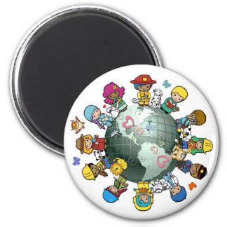 Liebe-Planeten-Erde: Vereinigen Sie für Frieden Magnets