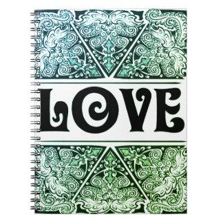 Liebe - positives Quote´s Notizblock