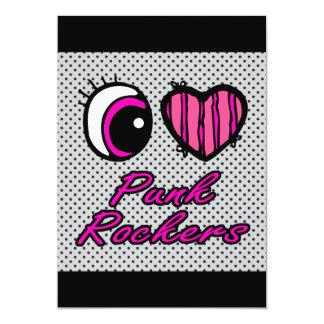 Liebe-Punkrocker des Emo Augen-Herz-I 12,7 X 17,8 Cm Einladungskarte