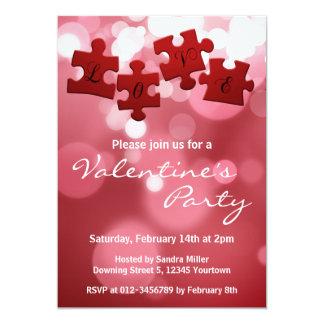Liebe-Puzzlespiel - Valentines-Party Einladung