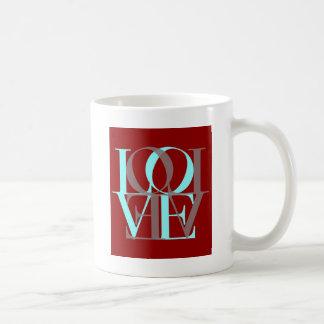 Liebe-Quadrat Kaffeetasse