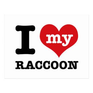 Liebe Racoon Postkarte