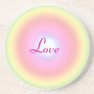 Liebe-Regenbogen-KreisValentine Untersetzer