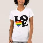 Liebe-Regenbogen-Stolz T Shirt