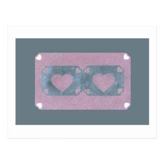 Liebe-Reihen-Collage - Herz # 38 Postkarte