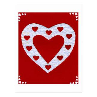 Liebe-Reihen-Collagen-Herz #13 Postkarten
