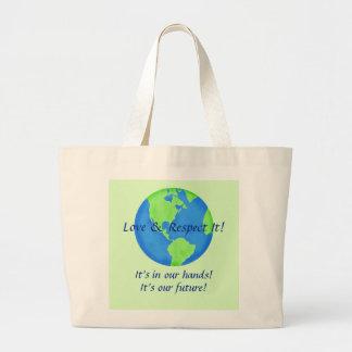 Liebe-Respekt-Erde, seine unsere Zukunft in Jumbo Stoffbeutel