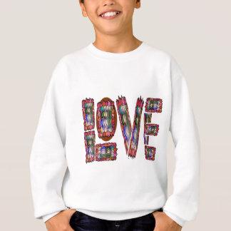 LIEBE romantisches sinnliches ArtisticScript für Sweatshirt