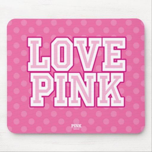Liebe rosa Mousepad
