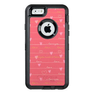 Liebe rosa romantischer otterbox iphone Fall OtterBox iPhone 6/6s Hülle