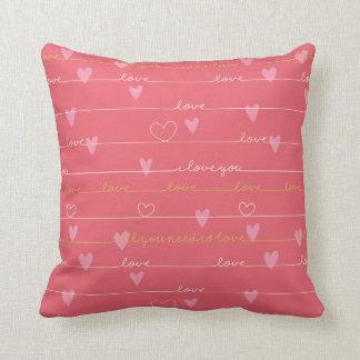 Liebe rosa romantisches Throwkissen Kissen
