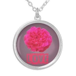 Liebe-Rose Versilberte Kette