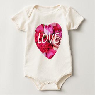 Liebe-Rosen-Herz Baby Strampler