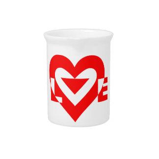 Liebe-Rot Getränke Pitcher