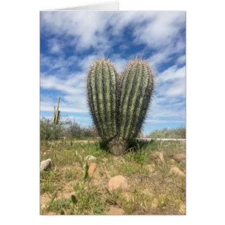 Liebe Saguaro-Grußkarte Karte
