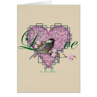 LIEBE Sammlung, Chickadee Karte
