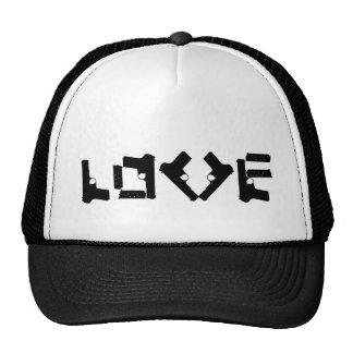 LIEBE Sammlung - Schwarzes - Fernlastfahrer-Hut Baseball Cap